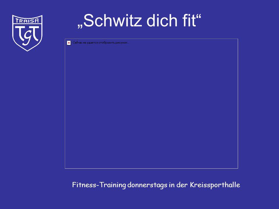 """""""Schwitz dich fit Fitness-Training donnerstags in der Kreissporthalle"""