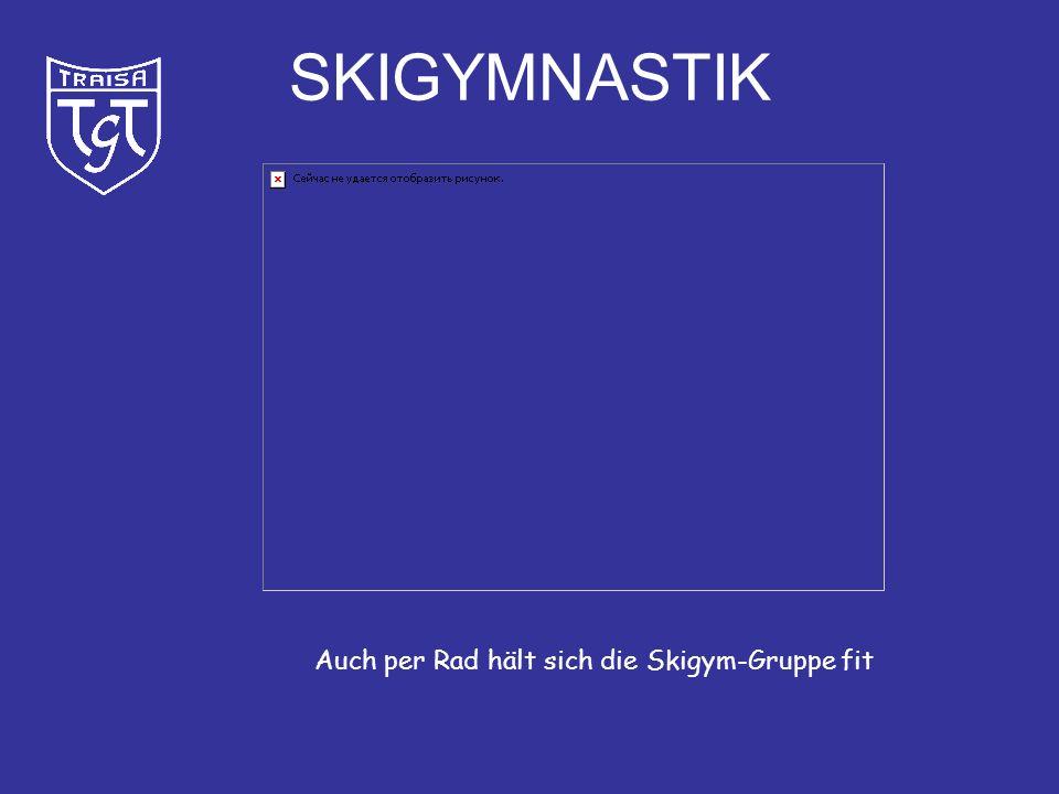 SKIGYMNASTIK Auch per Rad hält sich die Skigym-Gruppe fit