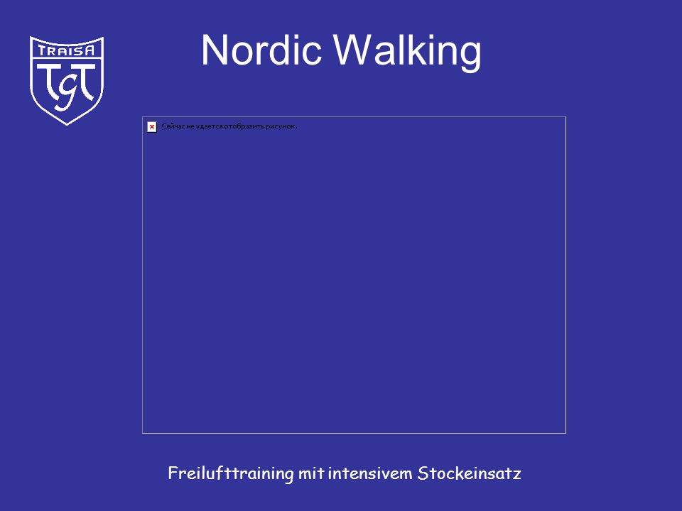 Nordic Walking Freilufttraining mit intensivem Stockeinsatz