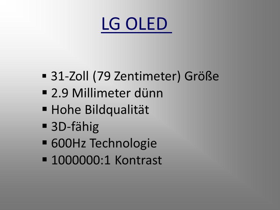 LG OLED 2.9 Millimeter dünn Hohe Bildqualität 3D-fähig