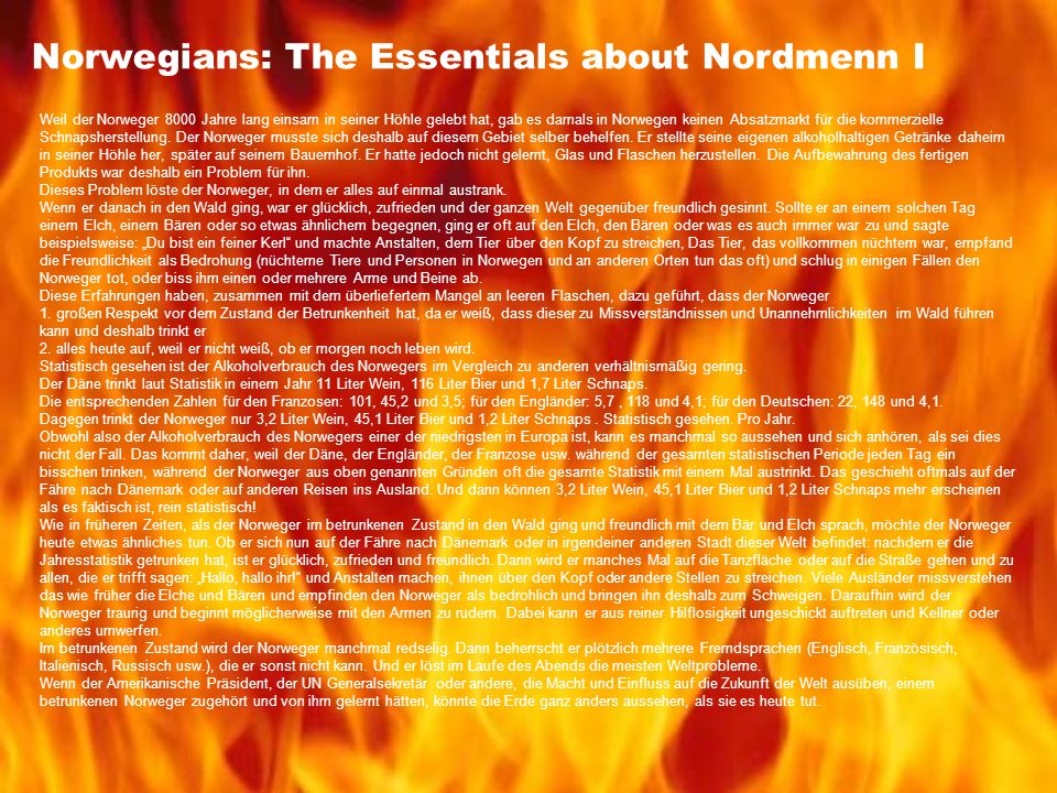 Norwegians: The Essentials about Nordmenn I