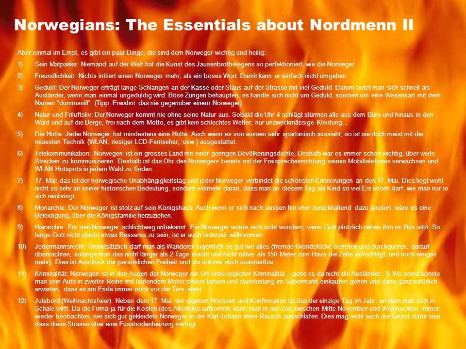 Norwegians: The Essentials about Nordmenn II