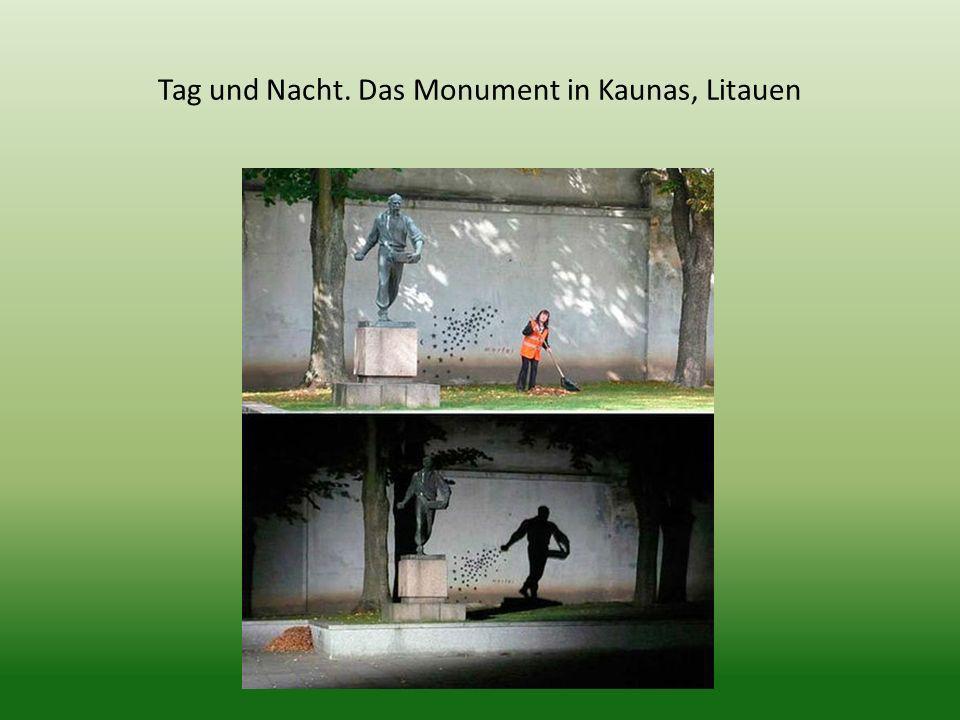 Tag und Nacht. Das Monument in Kaunas, Litauen