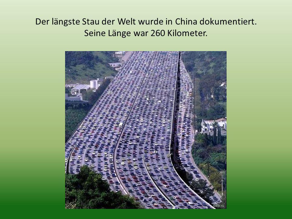 Der längste Stau der Welt wurde in China dokumentiert