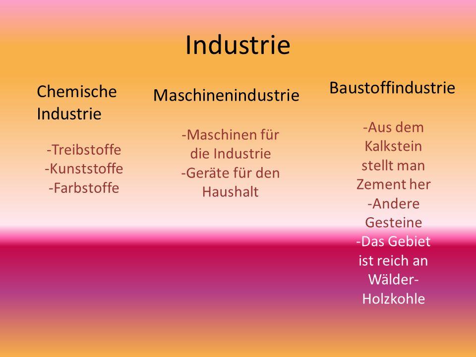 Industrie Baustoffindustrie Chemische Industrie Maschinenindustrie