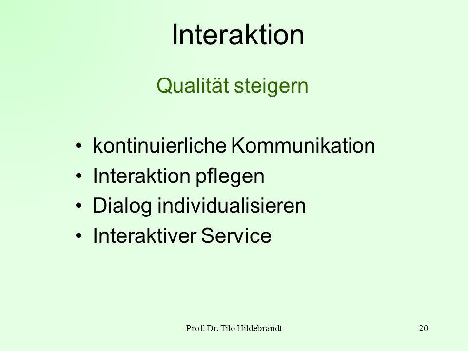 Prof. Dr. Tilo Hildebrandt