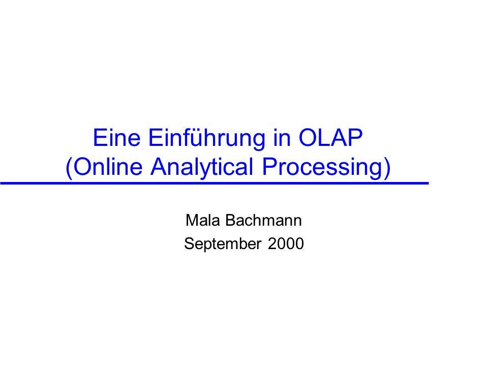 Eine Einführung in OLAP (Online Analytical Processing)