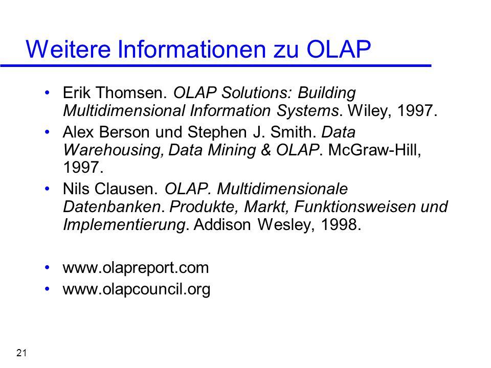 Weitere Informationen zu OLAP