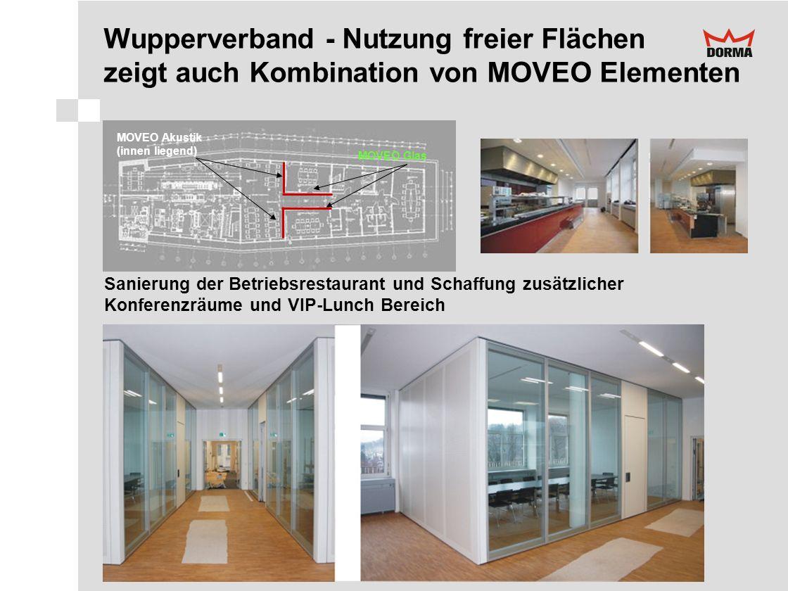 Wupperverband - Nutzung freier Flächen zeigt auch Kombination von MOVEO Elementen