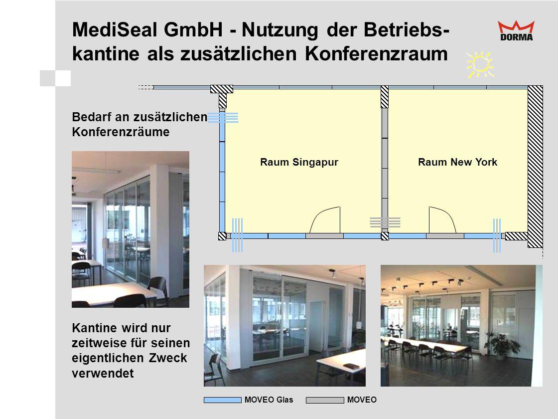 MediSeal GmbH - Nutzung der Betriebs- kantine als zusätzlichen Konferenzraum