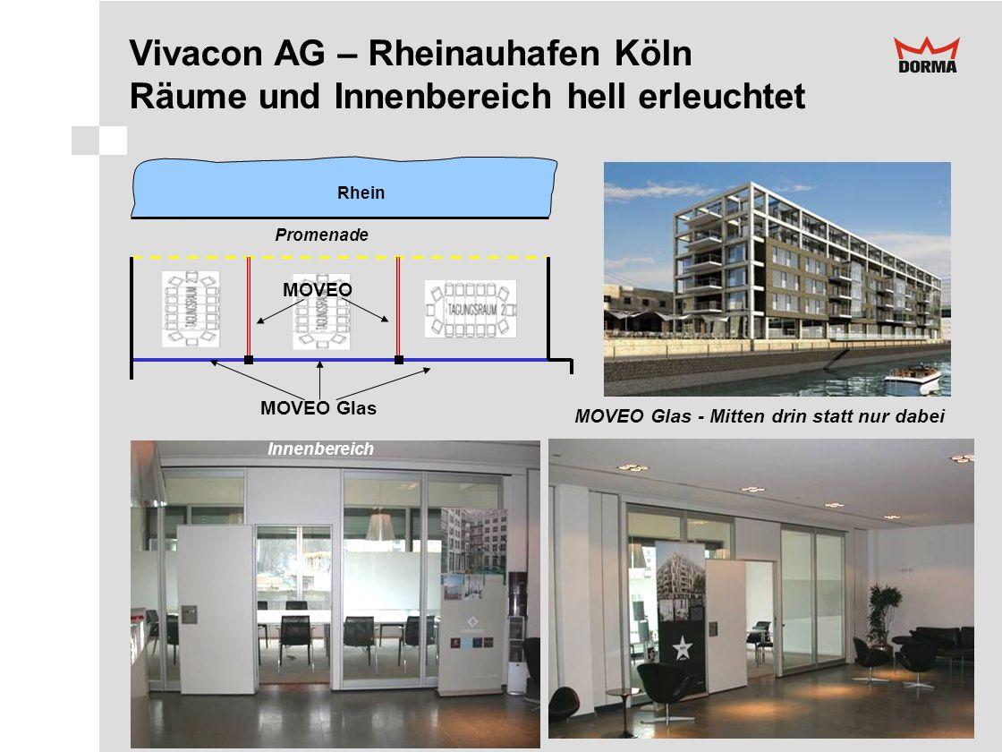 Vivacon AG – Rheinauhafen Köln Räume und Innenbereich hell erleuchtet