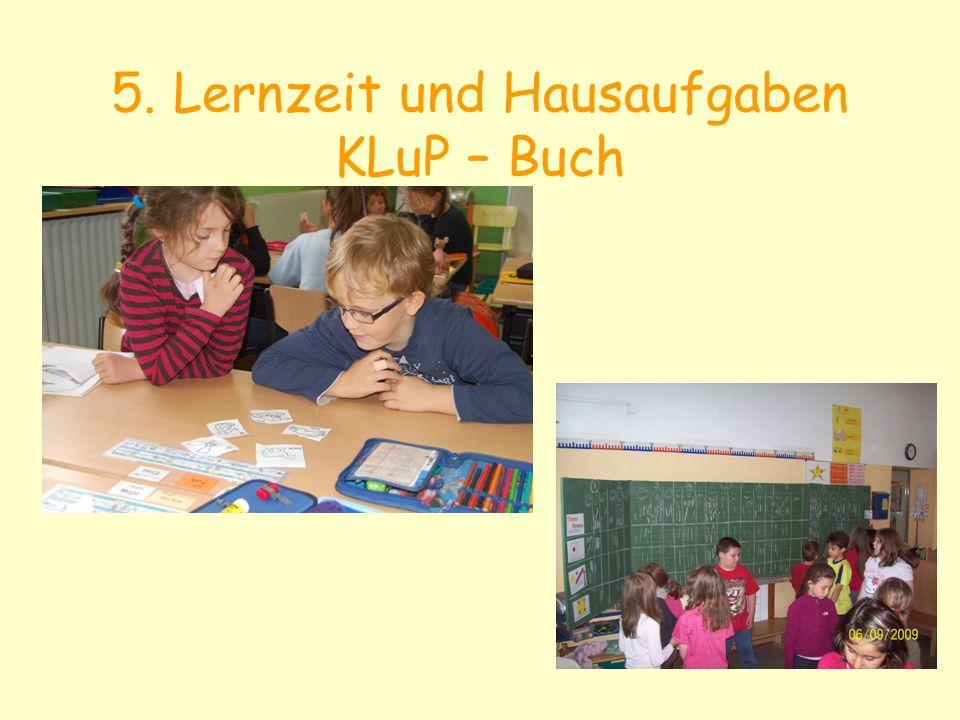 5. Lernzeit und Hausaufgaben KLuP – Buch