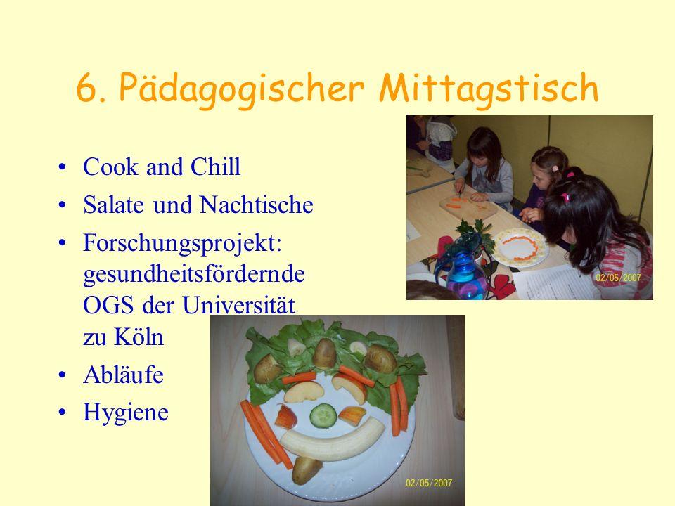 6. Pädagogischer Mittagstisch