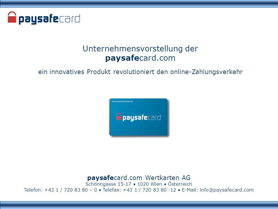 Unternehmensvorstellung der paysafecard.com