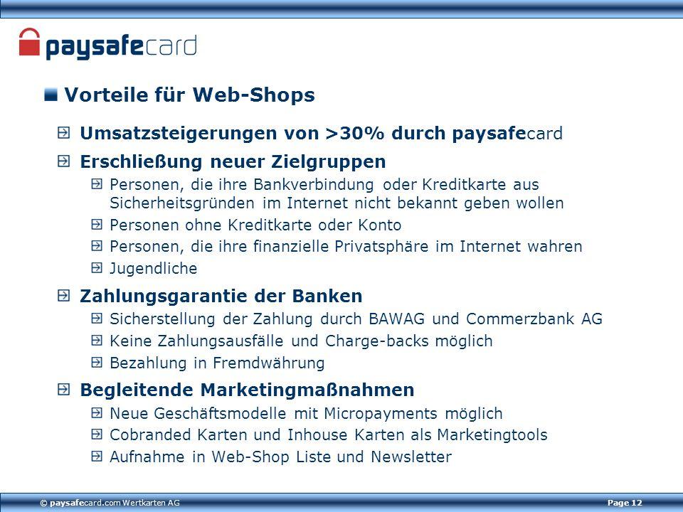 © paysafecard.com Wertkarten AG
