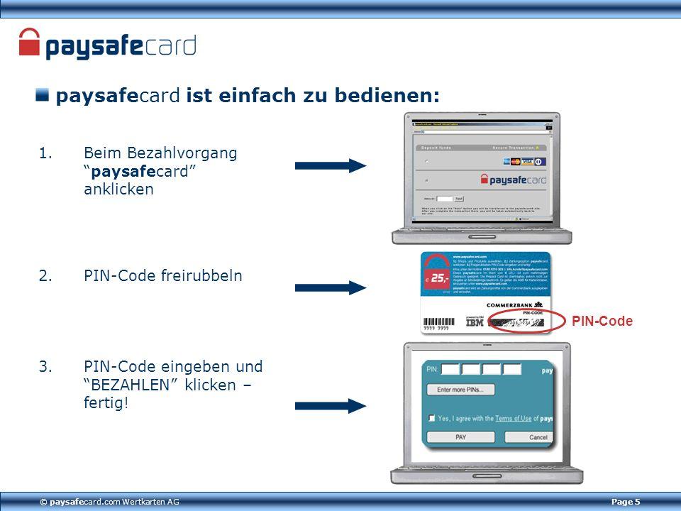 paysafecard ist einfach zu bedienen: