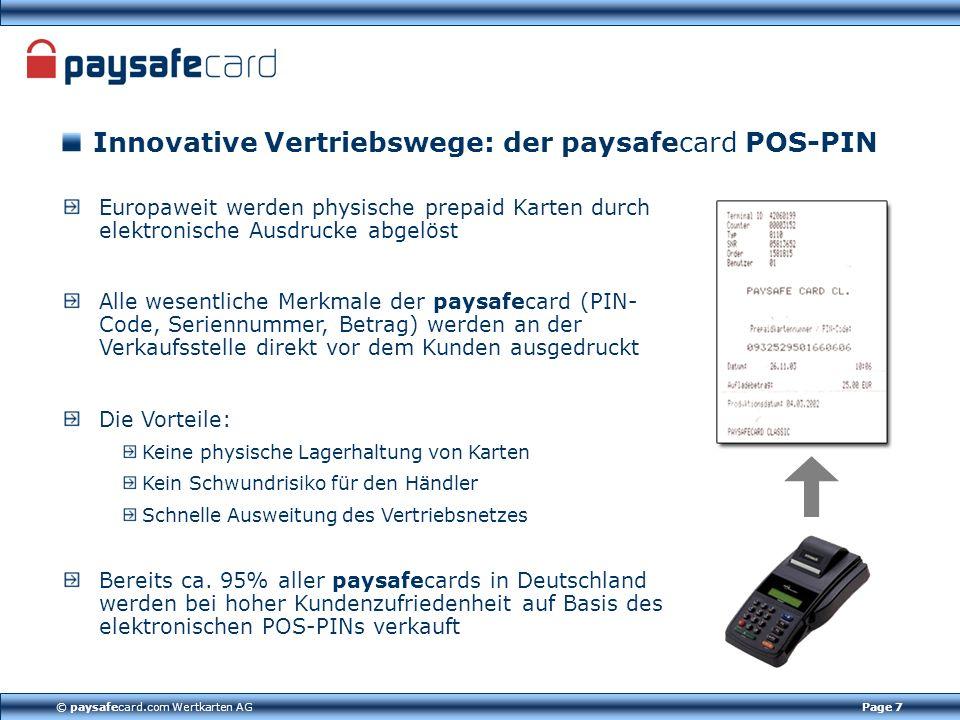 Innovative Vertriebswege: der paysafecard POS-PIN
