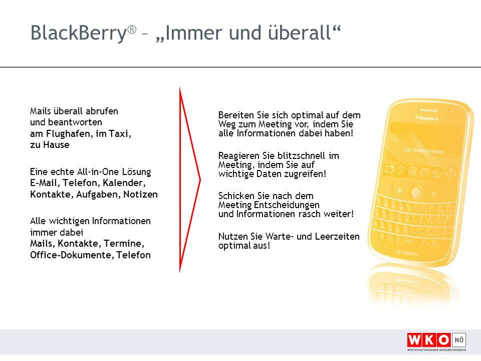 """BlackBerry® – """"Immer und überall"""