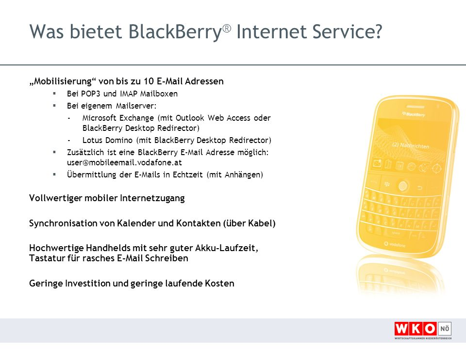 Was bietet BlackBerry® Internet Service