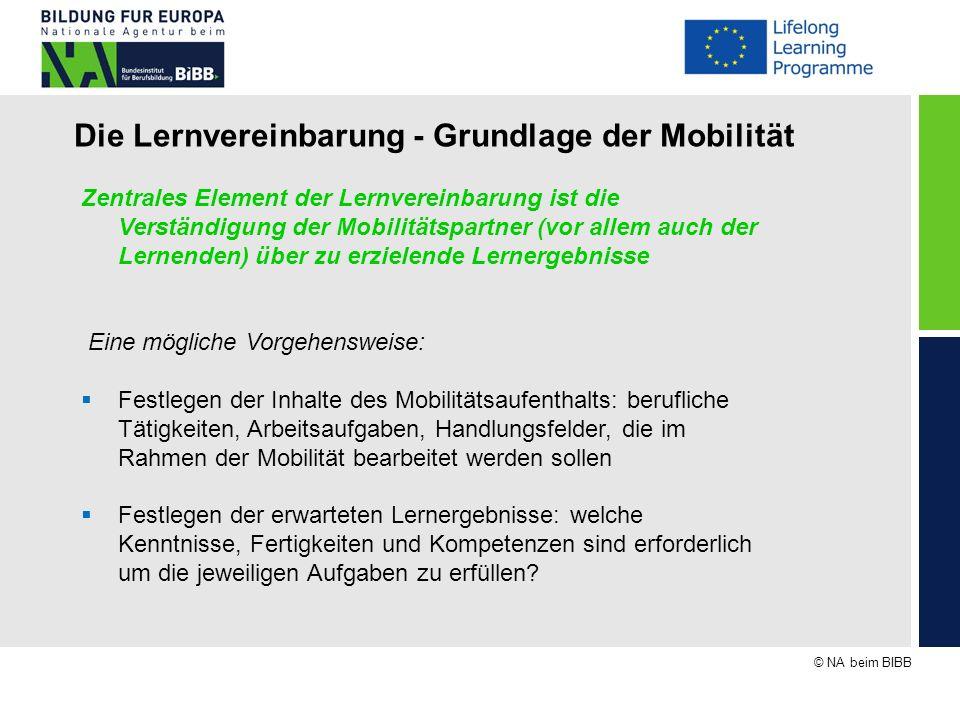 Die Lernvereinbarung - Grundlage der Mobilität
