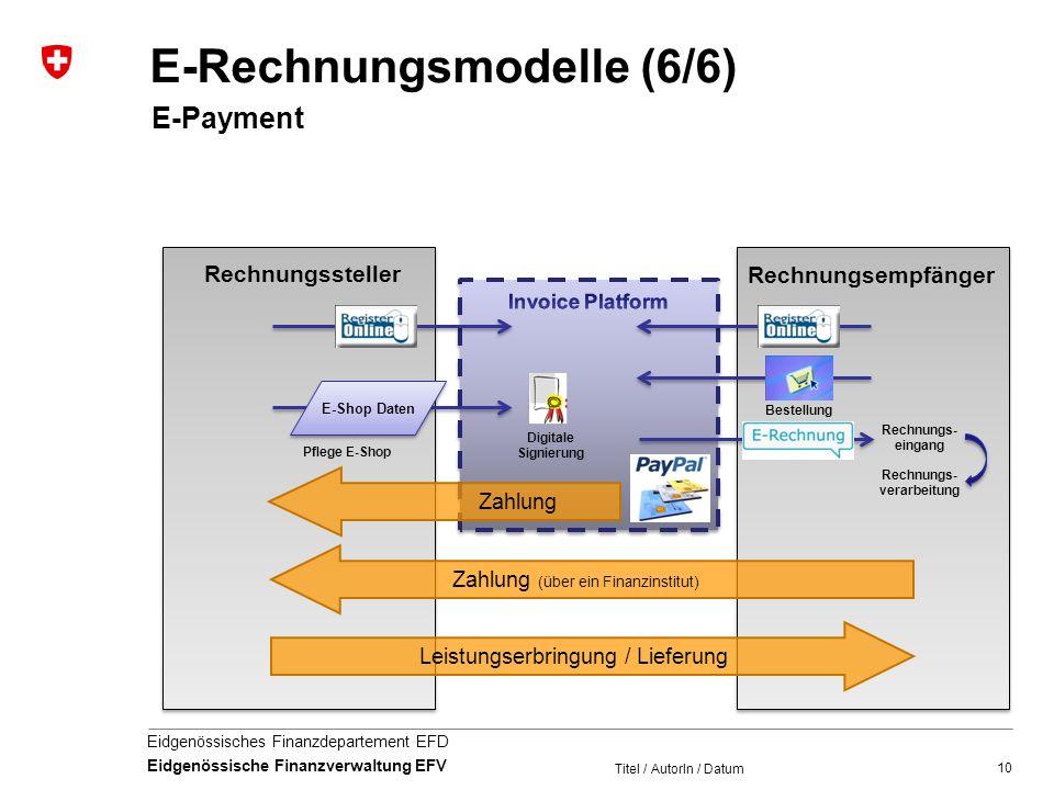 E-Rechnungsmodelle (6/6)