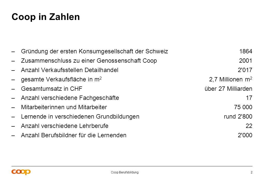 Coop in Zahlen Gründung der ersten Konsumgesellschaft der Schweiz 1864