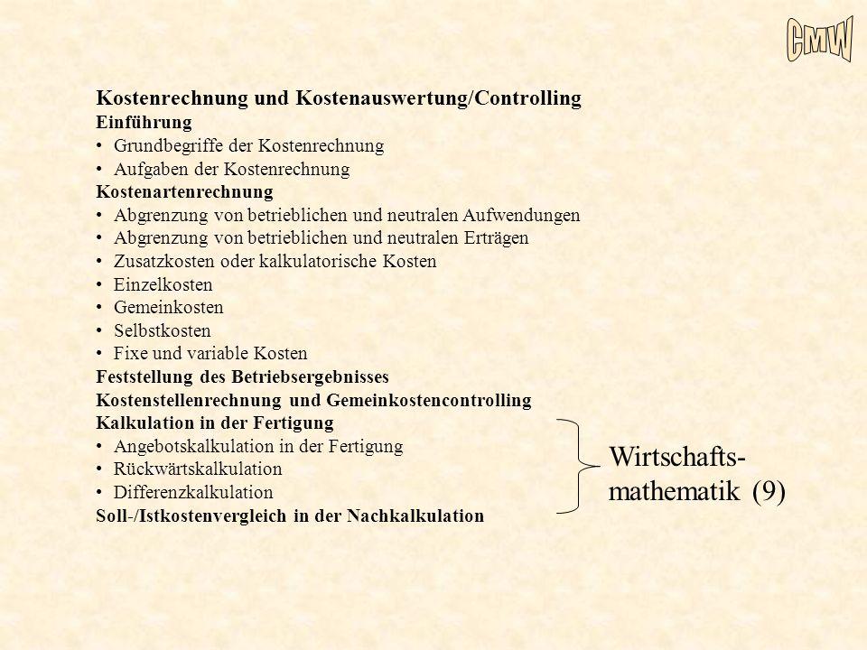 Wirtschafts-mathematik (9)