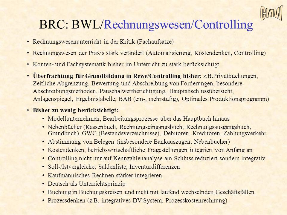 BRC: BWL/Rechnungswesen/Controlling