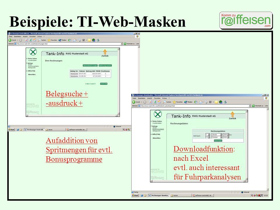 Beispiele: TI-Web-Masken