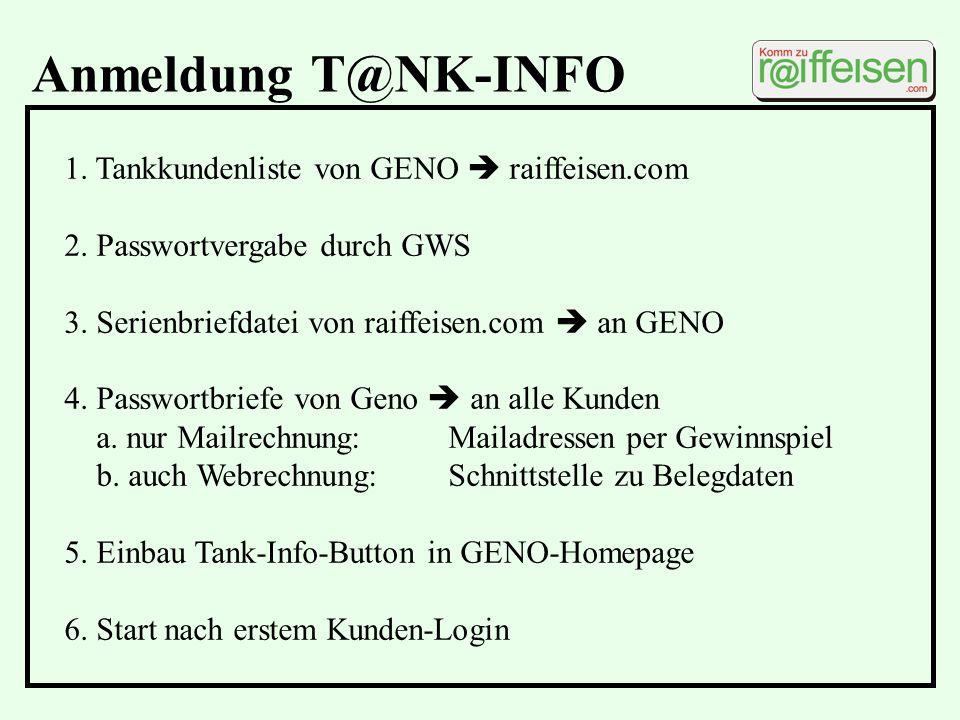 Anmeldung T@NK-INFO 1. Tankkundenliste von GENO  raiffeisen.com