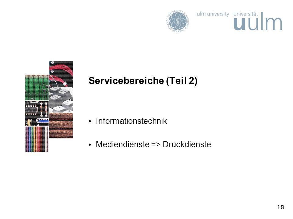 Servicebereiche (Teil 2)