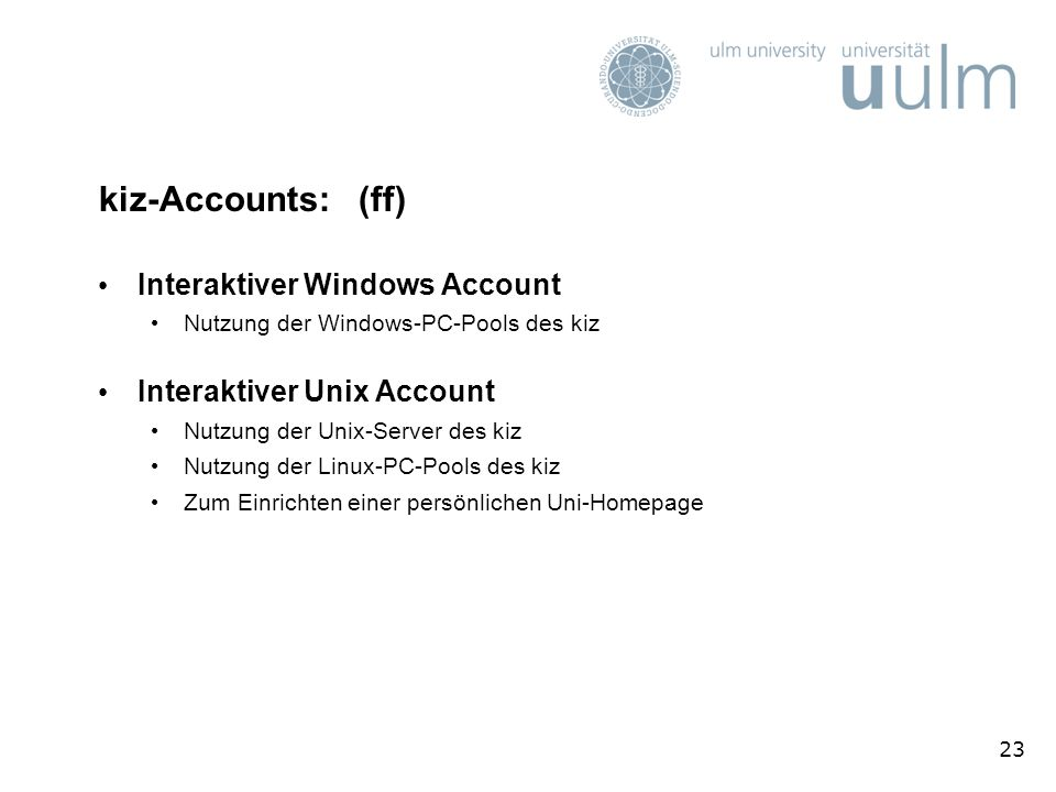 kiz-Accounts: (ff) Interaktiver Windows Account