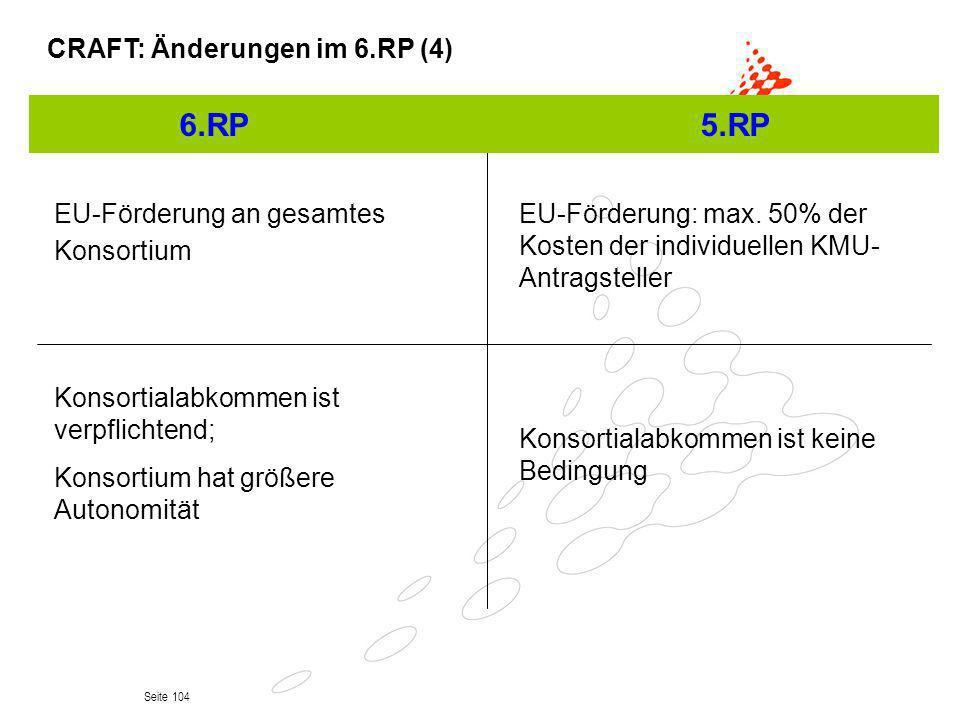 6.RP 5.RP CRAFT: Änderungen im 6.RP (4)