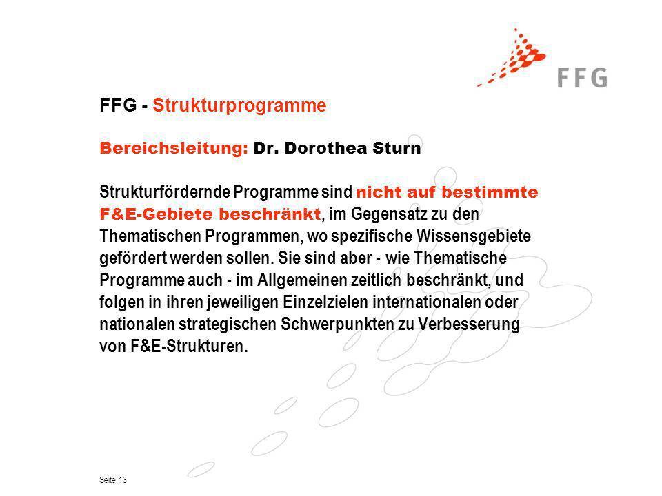 FFG - Strukturprogramme