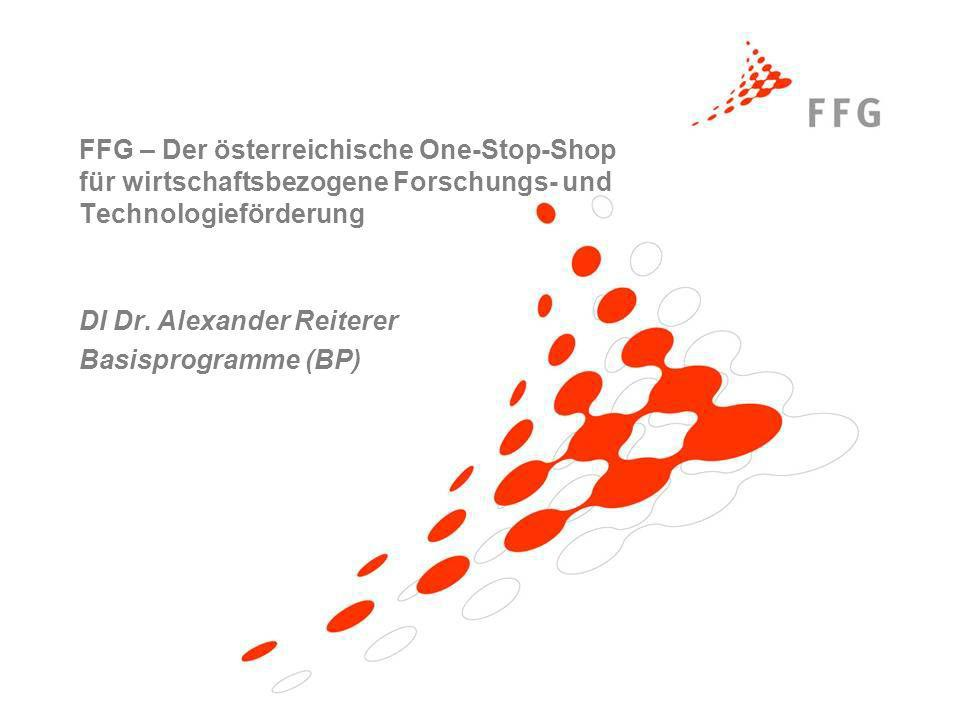 DI Dr. Alexander Reiterer Basisprogramme (BP)