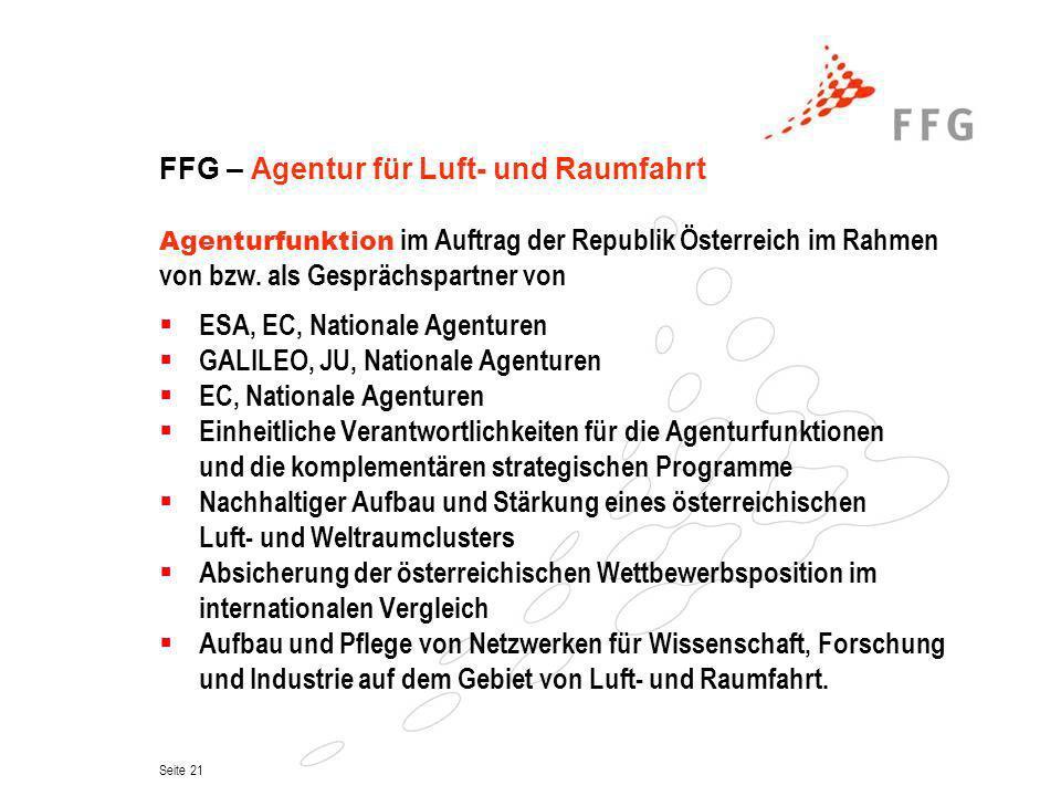 FFG – Agentur für Luft- und Raumfahrt