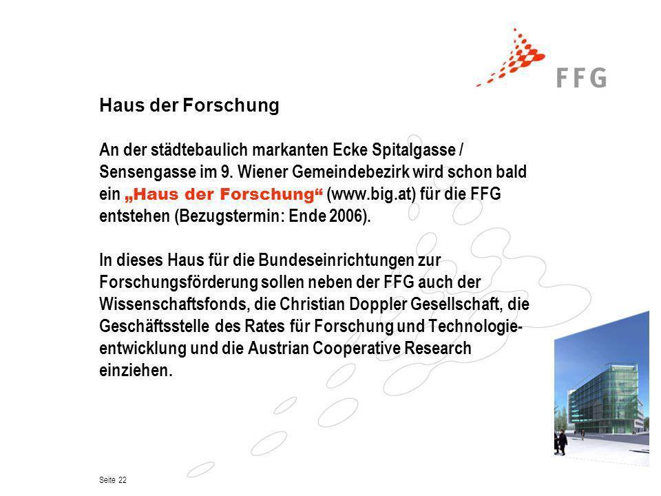 Haus der ForschungAn der städtebaulich markanten Ecke Spitalgasse / Sensengasse im 9. Wiener Gemeindebezirk wird schon bald.