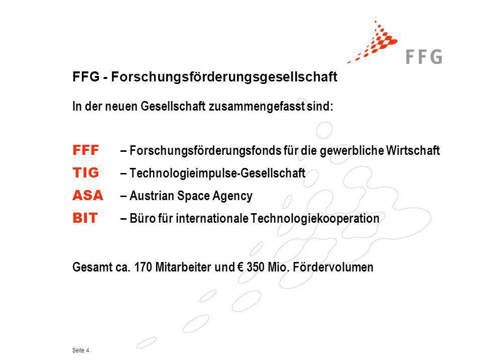 FFG - Forschungsförderungsgesellschaft