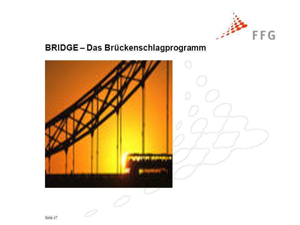 BRIDGE – Das Brückenschlagprogramm