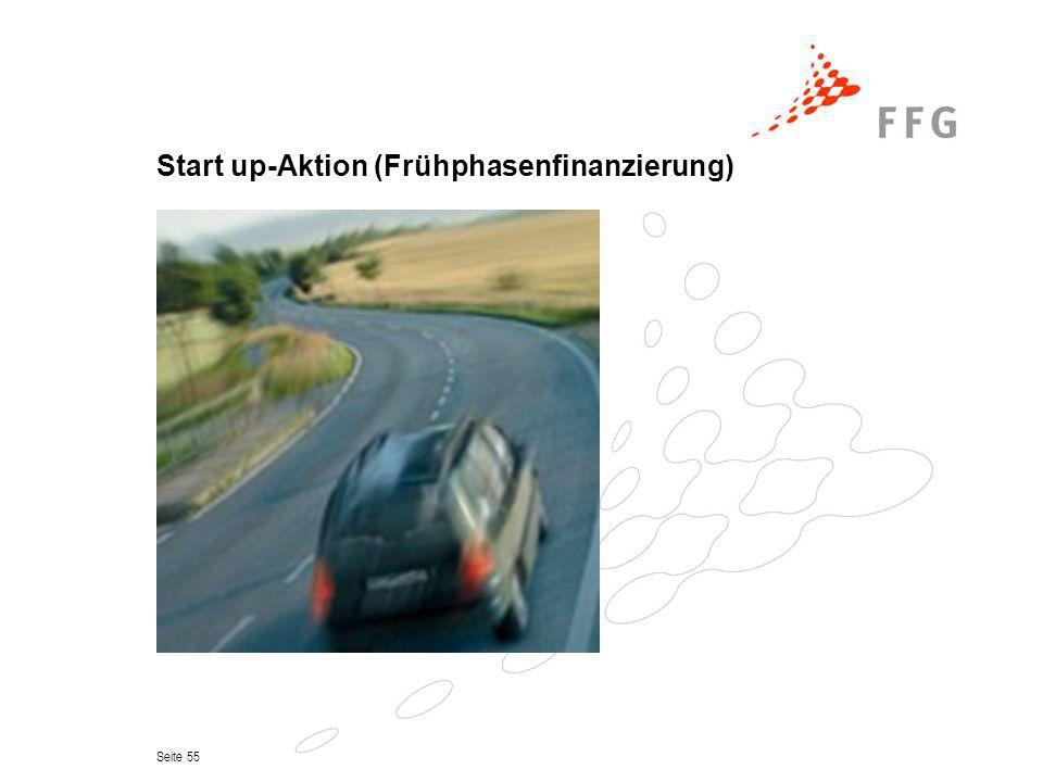 Start up-Aktion (Frühphasenfinanzierung)