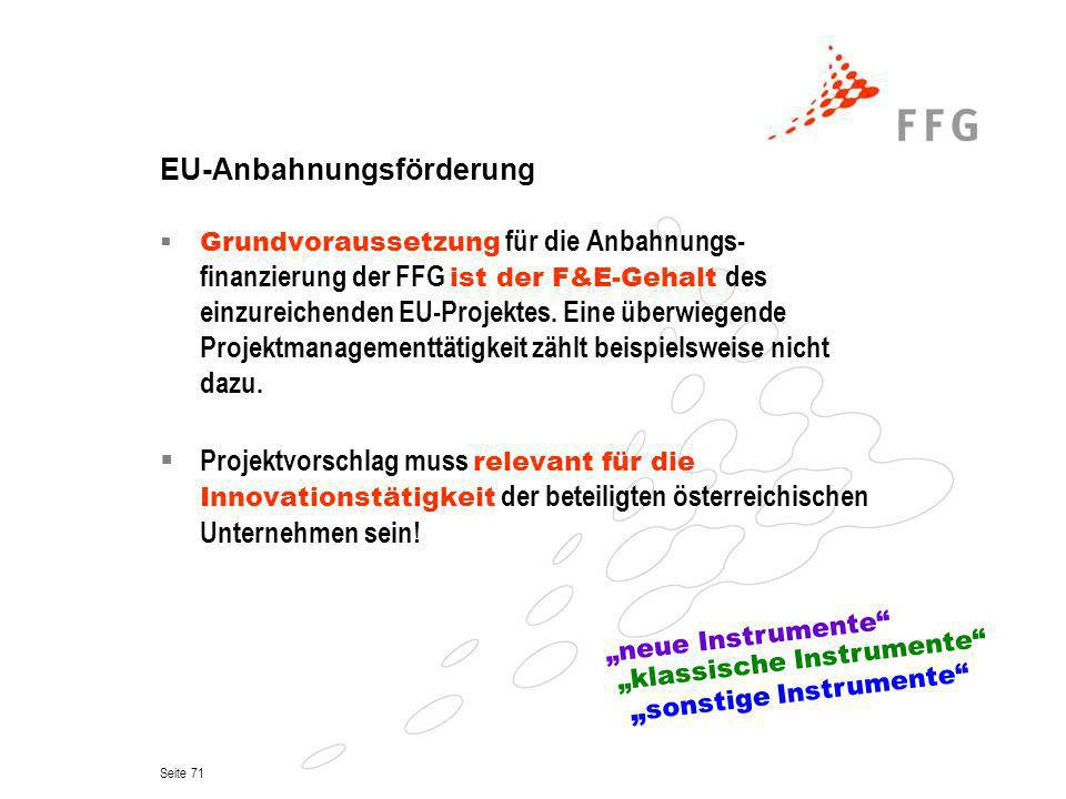 EU-Anbahnungsförderung