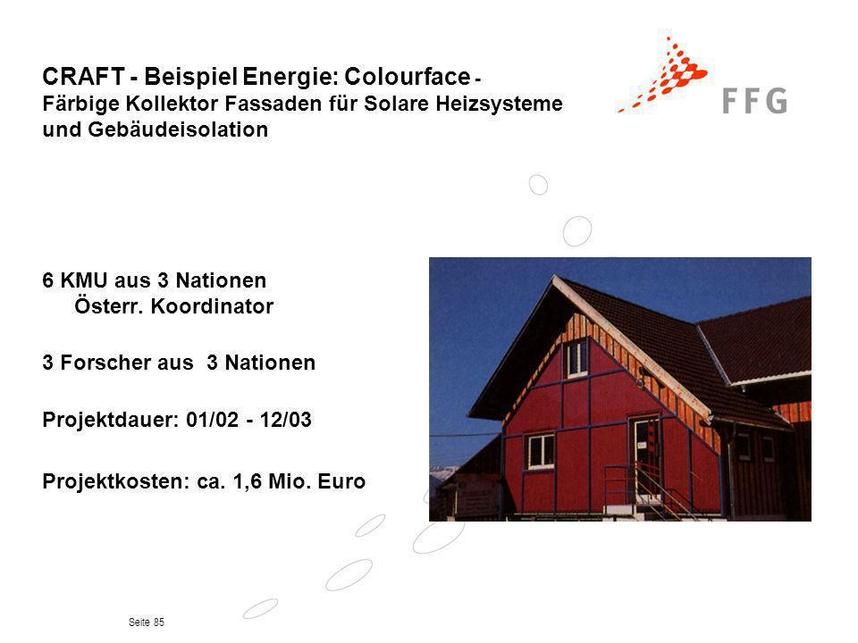 CRAFT - Beispiel Energie: Colourface - Färbige Kollektor Fassaden für Solare Heizsysteme und Gebäudeisolation