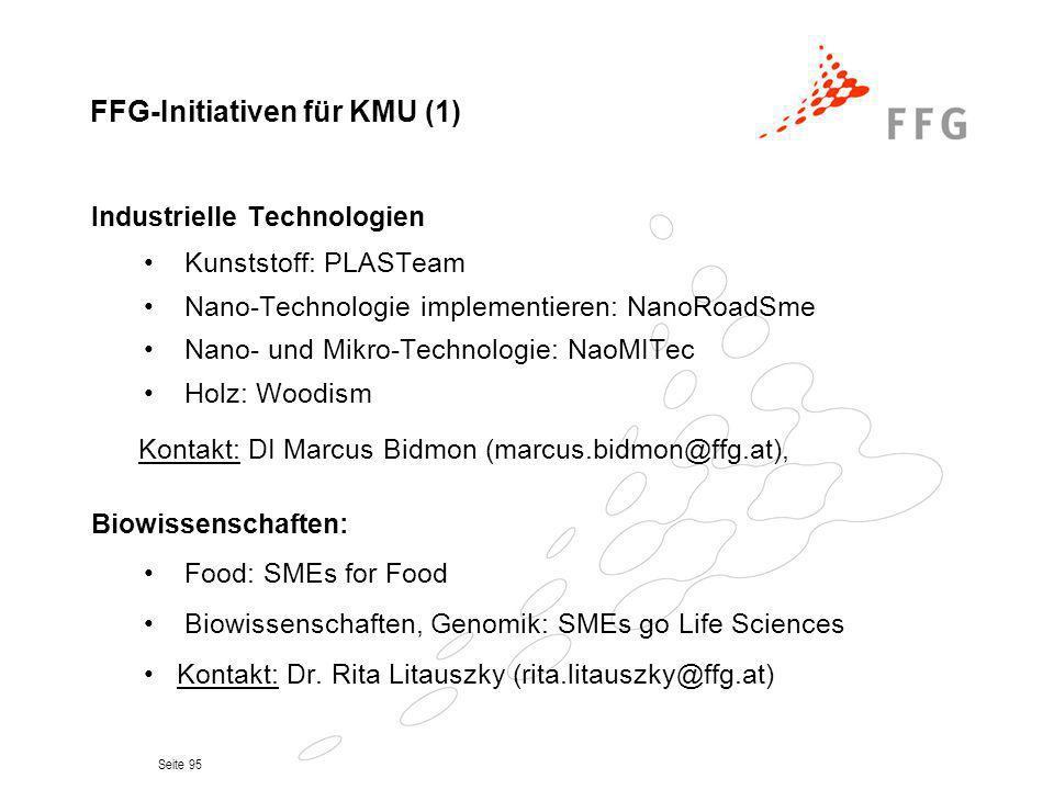 FFG-Initiativen für KMU (1)