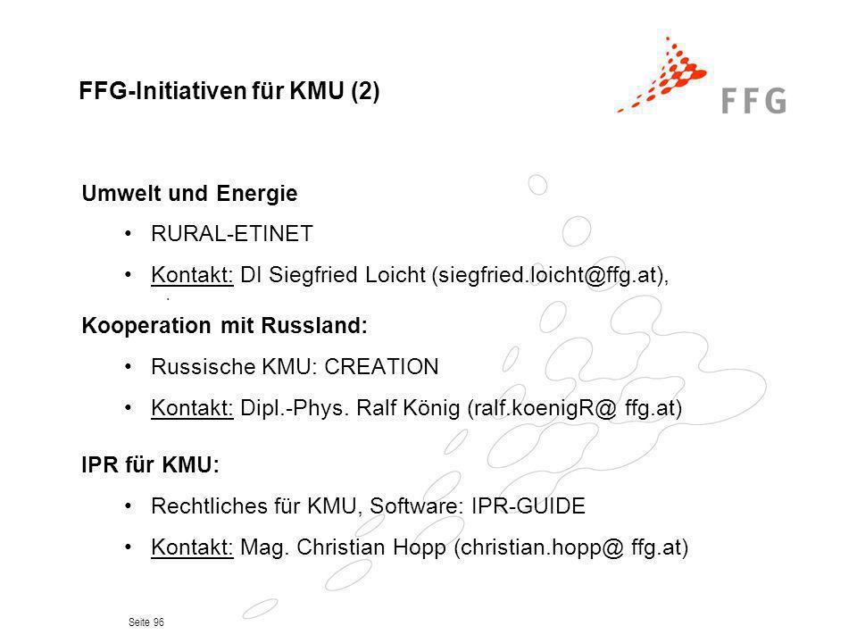 FFG-Initiativen für KMU (2)