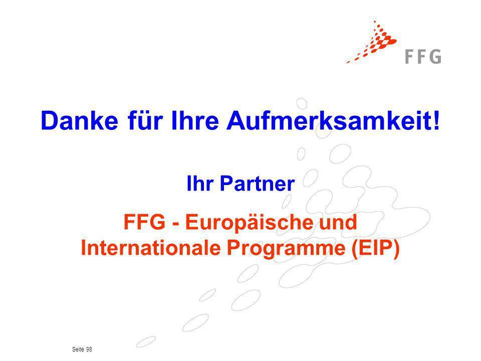 Danke für Ihre Aufmerksamkeit! Internationale Programme (EIP)