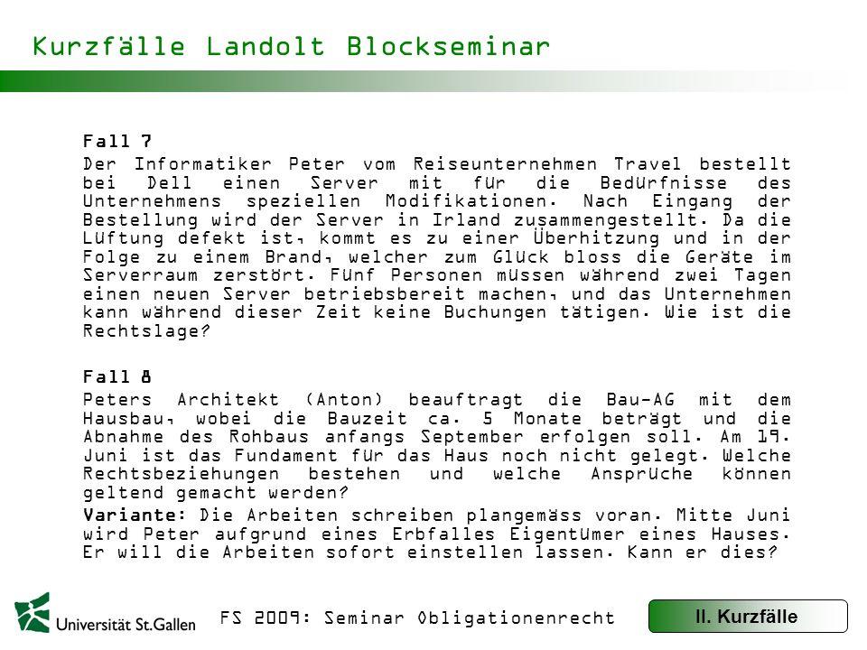 Kurzfälle Landolt Blockseminar