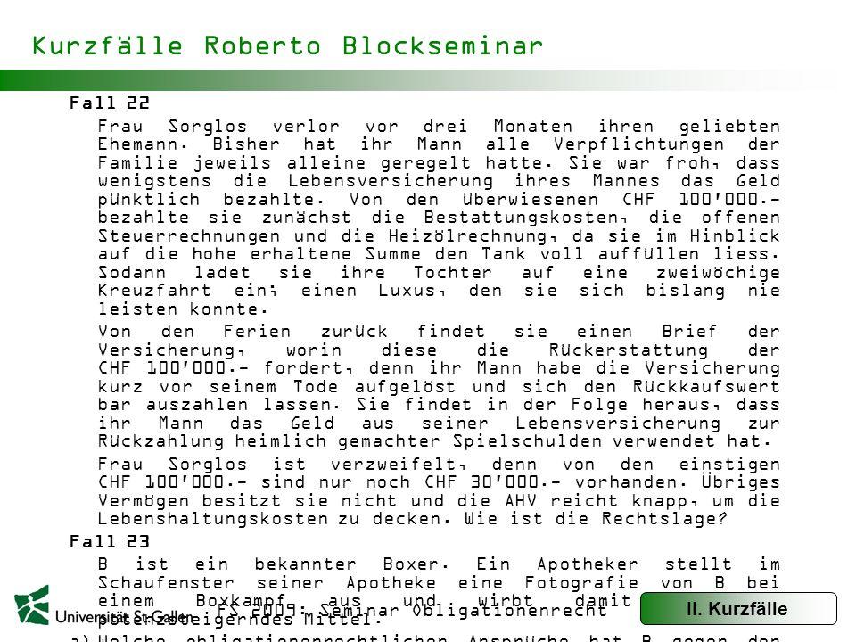 Kurzfälle Roberto Blockseminar