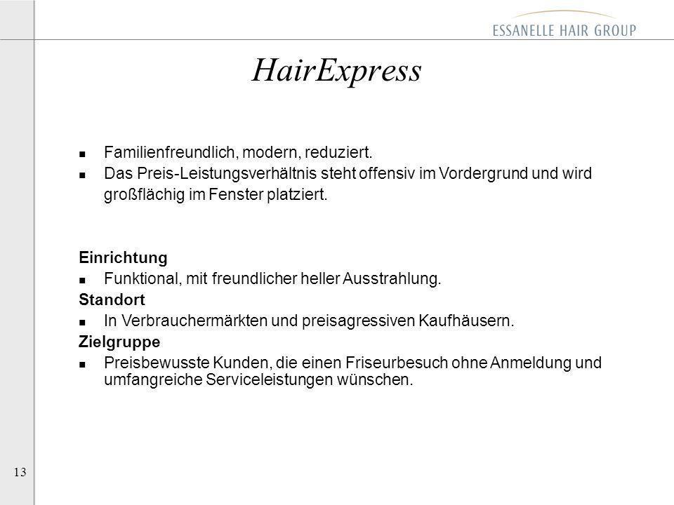 HairExpress Familienfreundlich, modern, reduziert.
