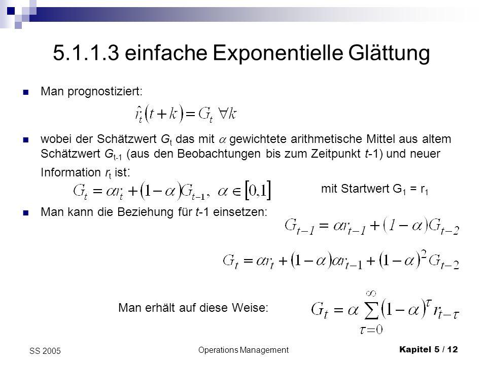 5.1.1.3 einfache Exponentielle Glättung