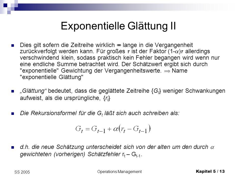 Exponentielle Glättung II